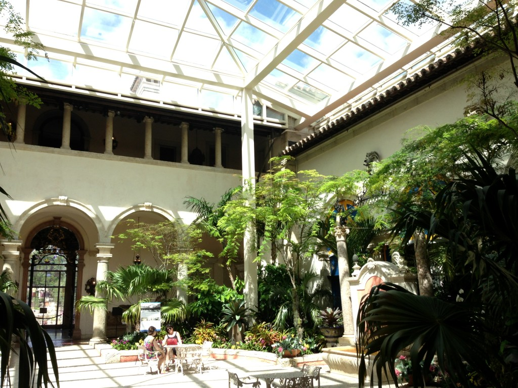 Courtyard at Vizcaya Museum and Garden, Miami