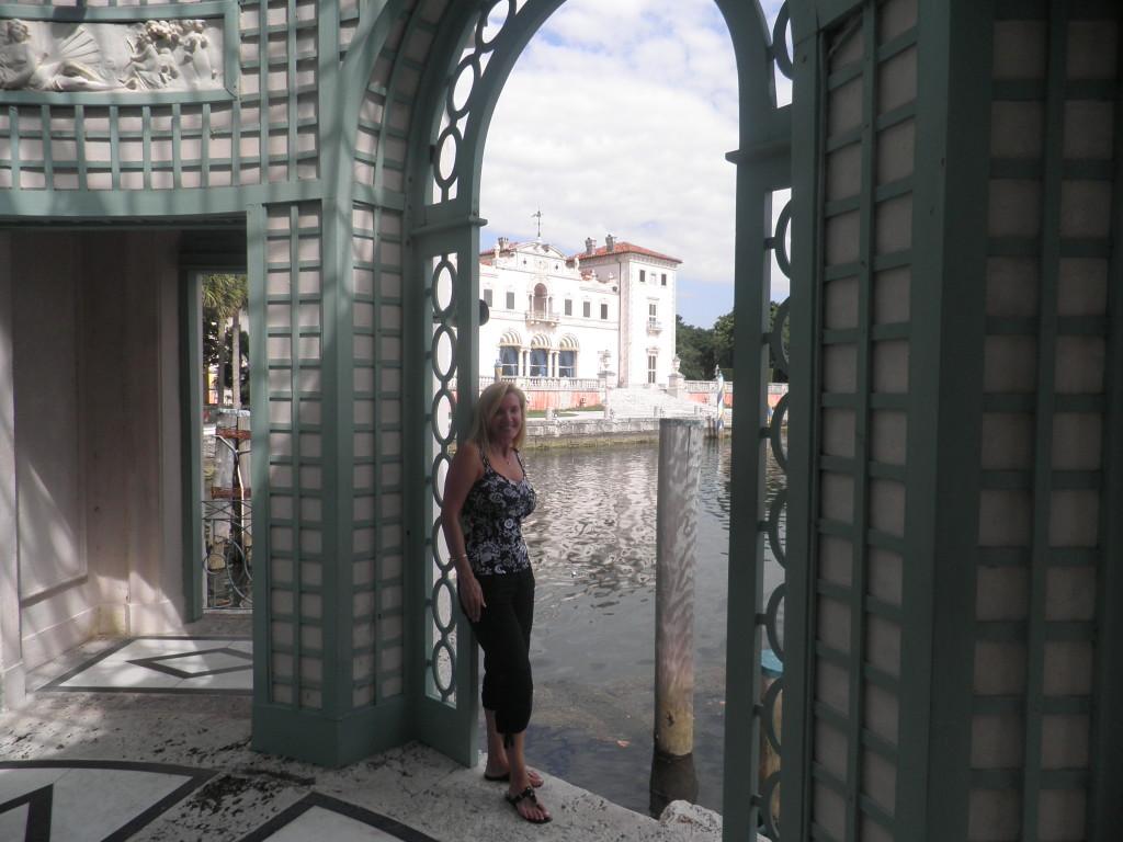 Gazebo view at Vizcaya Museum and Garden, Miami
