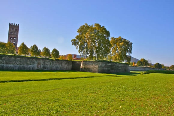 Lucca's city walls, Italy