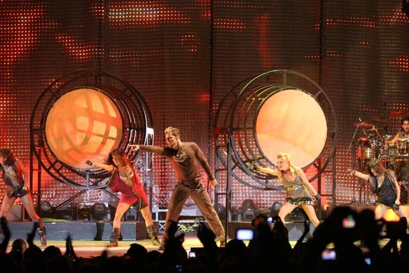 Ricky Martin concert in Summer Music Festival Lucca, Italy