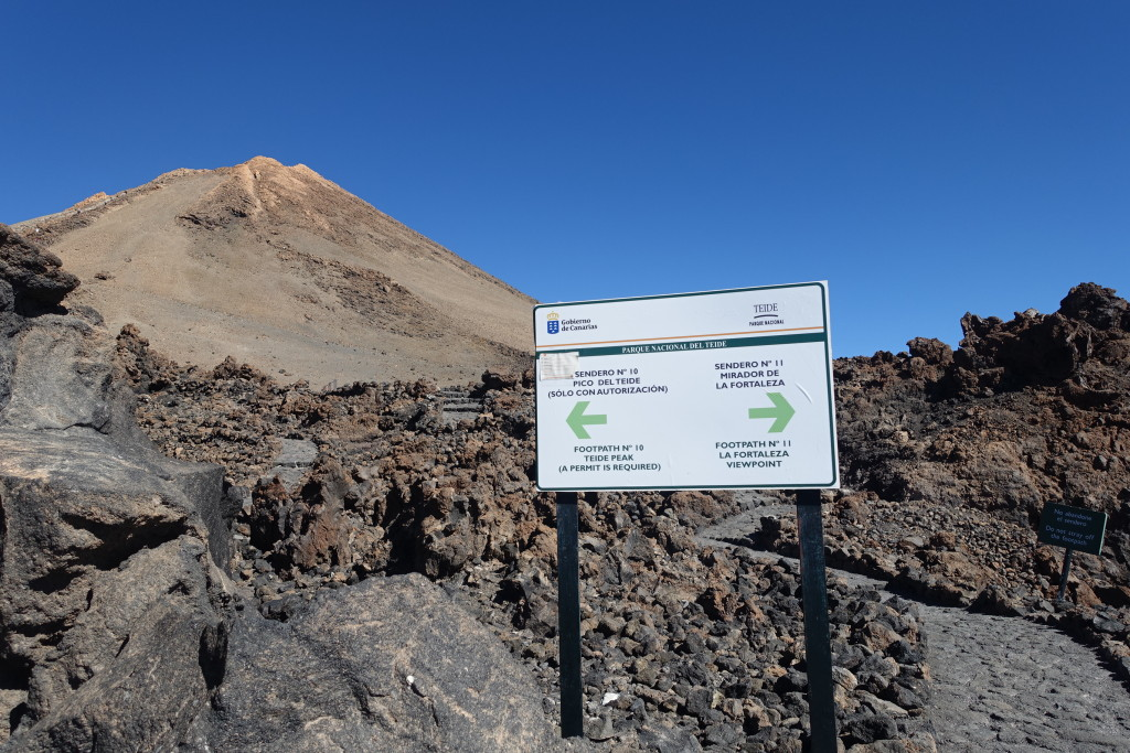 Teide Summit hiking paths, Teide National Park, Tenerife