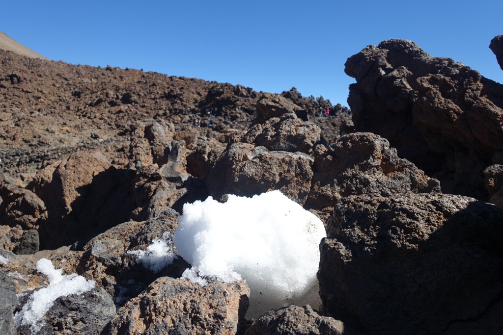 Snow at Teide Summit, Teide National Park, Tenerife