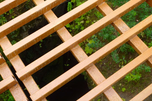 The grating in the middle of the woods in Icod de Vino