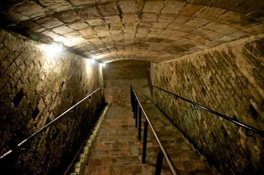 Codorniu Cava  Wine Cellars Stairs
