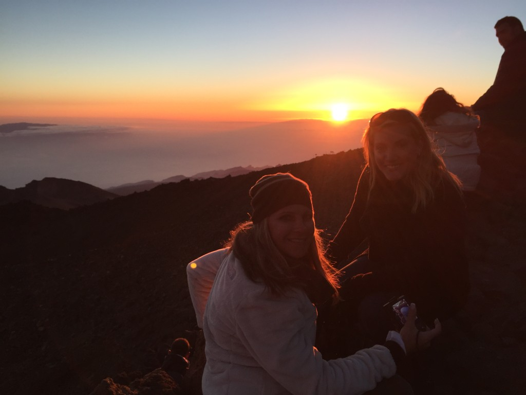 Watching the sunset from on top of Mount Teide - Teide National Park