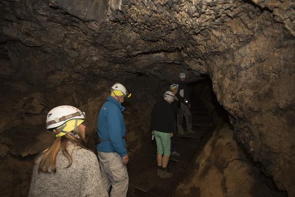 Inside Europe's largest lava cave (Cueva del Viento) in Icod de Vinos