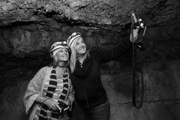 Selfie inside the lava cave (Cueva del Viento) in Icod de Los Vinos