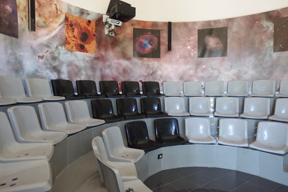 Inside the Visitors Center at Teide Observatory - Tenerife