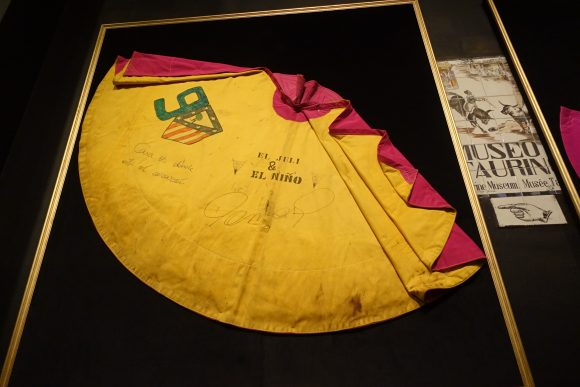 Retired Bullfighting Matadors Capes.  The Plaza de Toros - Madrid