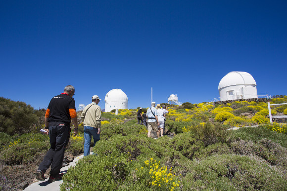 The walk to the Observatory Visitors Center - Teide Observatory