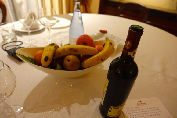 Fruit Basket and Wine in the Penthouse Suite, Hotel Botanico
