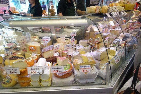 Ferpal - cheeses of all kinds for sale (Madrid Food Tour)