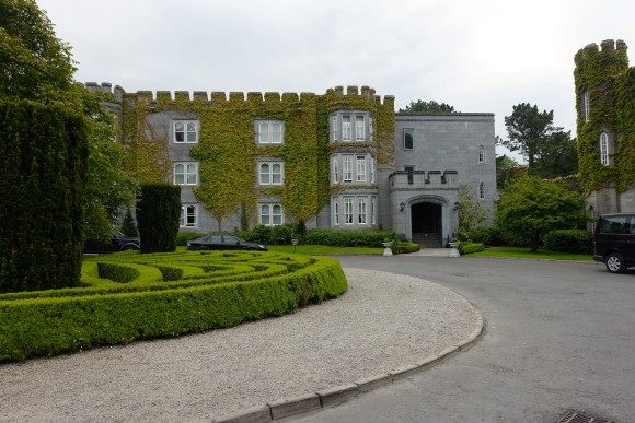 The front of our building in Dromoland Castle, Ireland