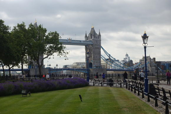 Walking towards Tower of London