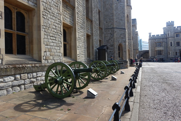 Foot Guard stations and armory in front of the Jewel House, Tower of London