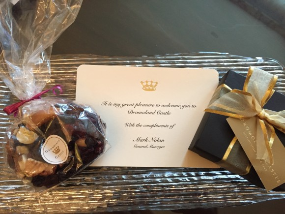 Welcoming Surprise in our room - Dromoland Castle