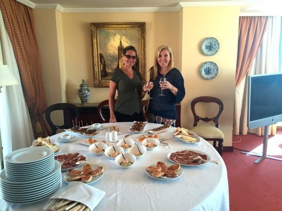 Dining in our suite at Hotel Botanico - Puerto de La Cruz