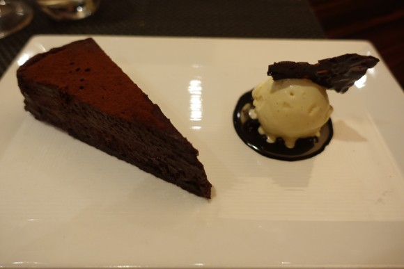 BLT Steak White Plains - Warm Chocolate Tart with Vanilla Ice Cream Dessert