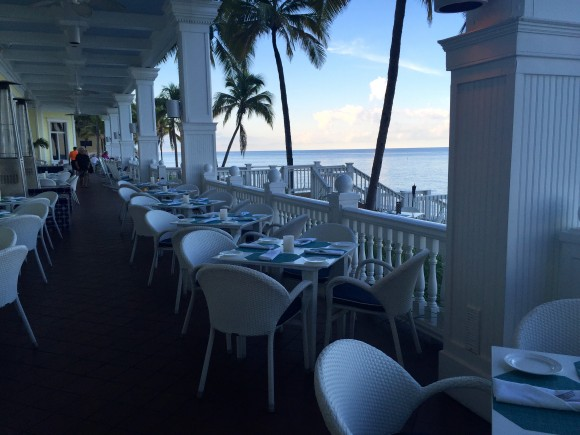 Ocean2000 Restaurant outdoor patio seating, Pelican Grand Beach Resort