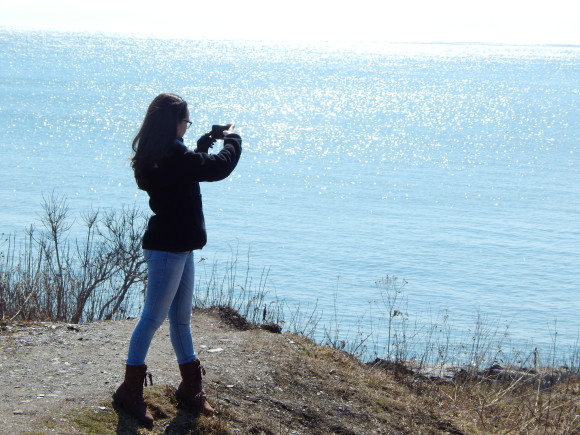 Me Taking Pictures of the Beautiful Ocean (Photo Credit: Dori Eckert)