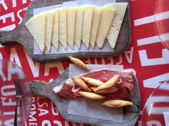 Manchego cheese, Jamon Serrano tapas at Jaleo
