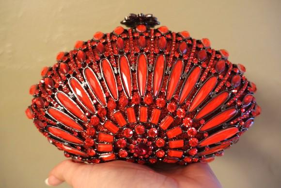 Cosmos Red Princess Purse (Model: 569) by GiltBags.com
