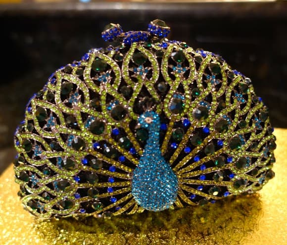 ROCKETTE Peacock Purse (Model: 651) by Giltbags.com