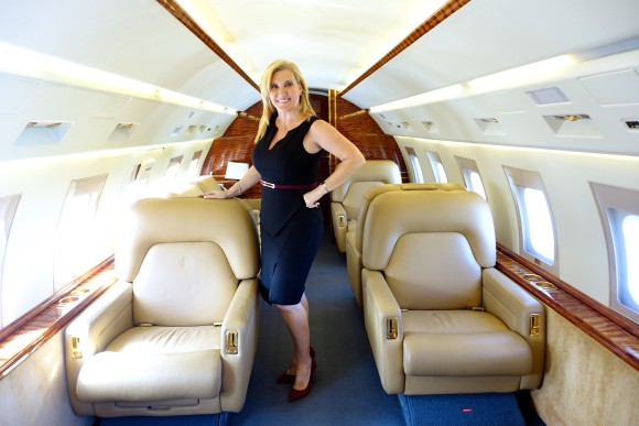 On a Challenger 601 Private Jet very spacious and roomy with PrivateFly