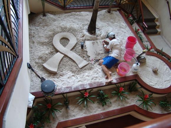 Harbor Beach Marriott Lobby Sand Art (Image Source Harbor Beach Marriott)