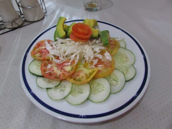 Salad plate at 1900's Restaurant in Placetas Cuba