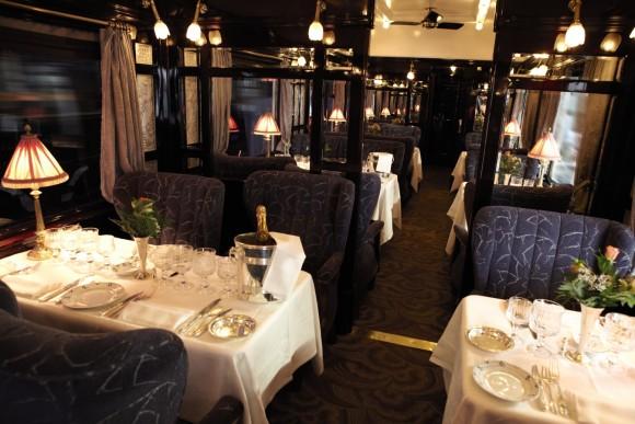 Venice Simpion Orient Express Train Dining Area