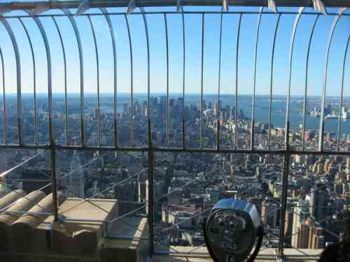 Empire State Building Observation Deck, facing South.