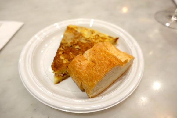 A slice of tortilla (potato omelette) at Despaña Fine Foods & Tapas Café
