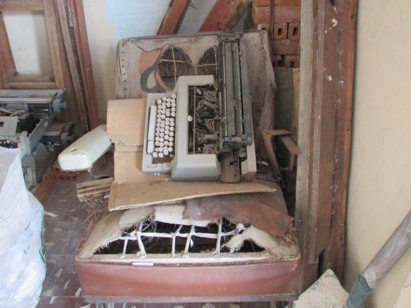 The room of broken chairs and typewriters in Civil Registry of Placetas<