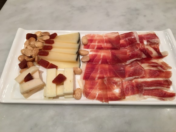 Despaña Fine Foods & Tapas Café sampler selection of cured meats and fine cheeses made especially for me