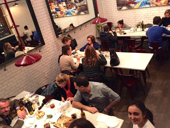 Despaña Fine Foods & Tapas Café Soho dining area with customers enjoying their meals