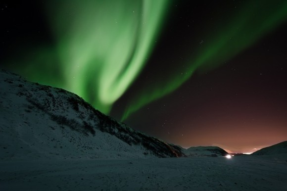 Aurora lights from North Cape