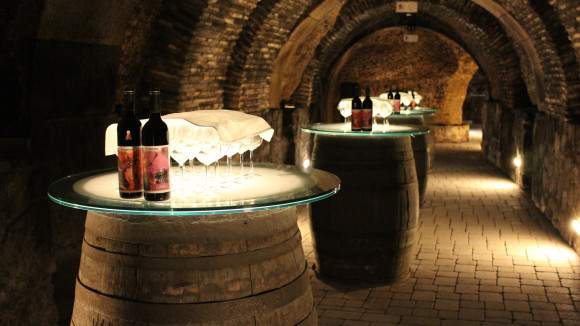 Underground winery in the walled city of LaGuardia (Image: Tours of Basque)