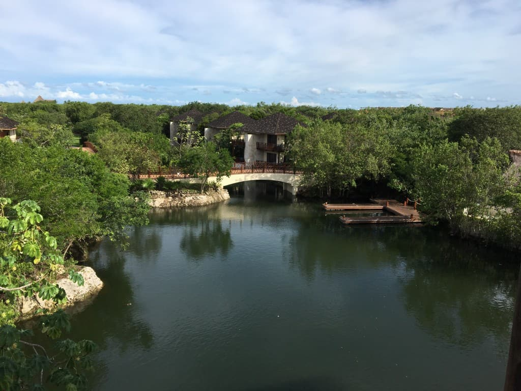Fairmont Mayakoba canals view from lobby