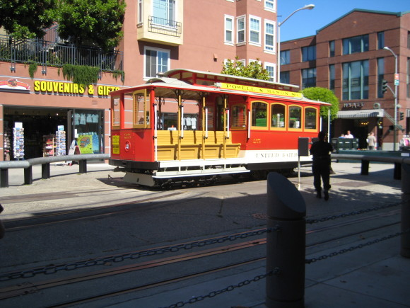Cable Car on Powell Street in San Francisco