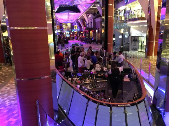The Rising Tide Bar on the Oasis of the Seas cruise ship