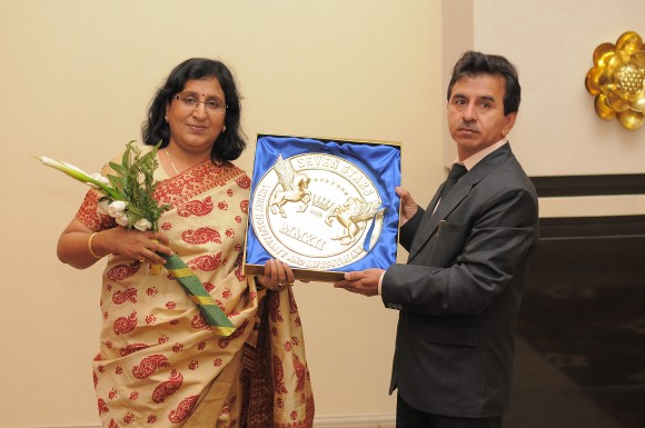 Mrs Rajni Hasija-Maharaja's Express (Image courtesy of Seven Stars Luxury Hospitality and Lifestyle Awards)