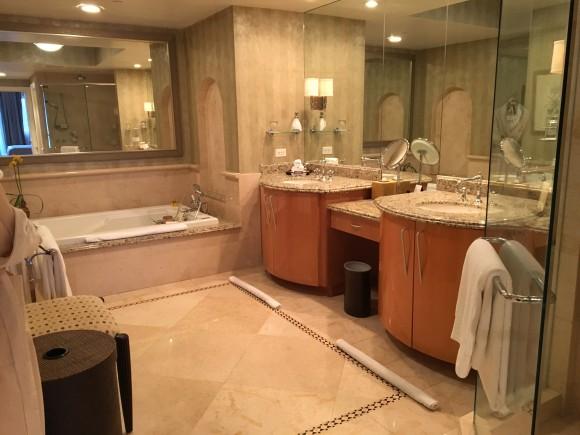 Ocean Front Suite Master Bathroom at Acqualina Resort