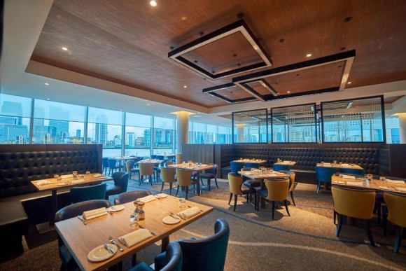 Market Brasserie fine dining restaurant with amazing views at InterContinental London - The O2