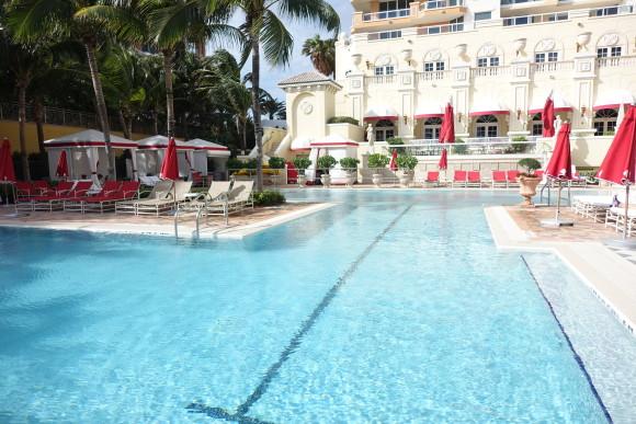 The Beach Club Pool at Aqualina Resort