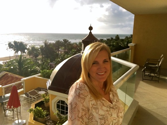Spectacular oceanfront views from the balcony at Acqualina