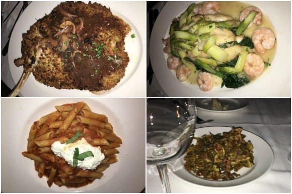 Il Mulino Restaurant Food Selections at Aqualina Resort