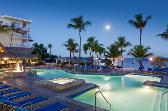 Outdoor Pool at Night photo courtesy of Key Largo Bay Marriott