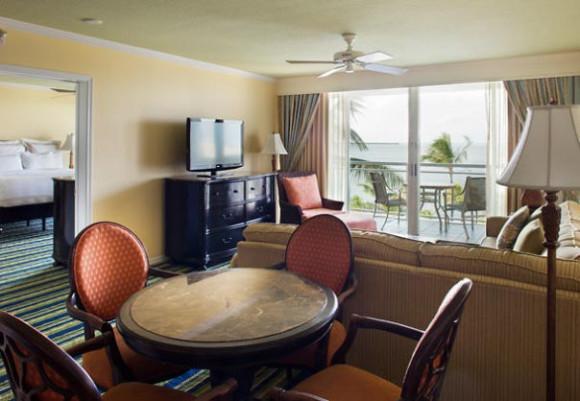 2 Bedroom Suite Living Room photo courtesy of Key Largo Bay Marriott Resort