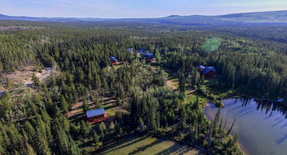 Aerial view photo courtesy of The Chilko Experience
